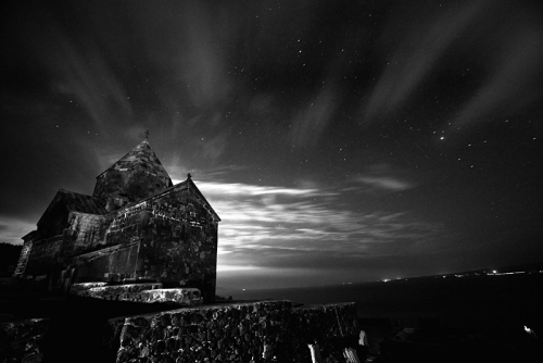 Night at Sevan monastery