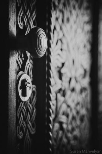 Old Armenian decorative door
