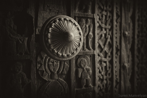 Old Armenian church door