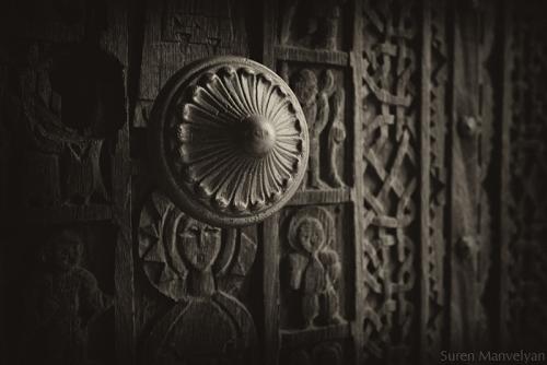 Old Armenian church door