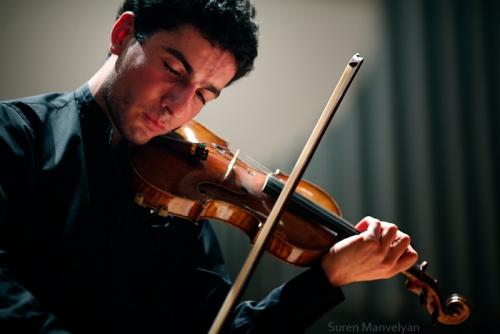 Sergey Khachatryan at concert.