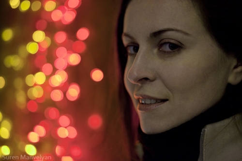Fairy lights portraits