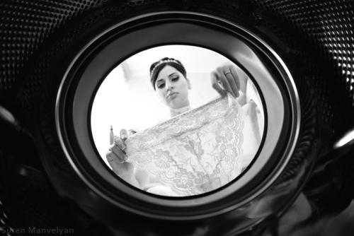 Inside the washing machine