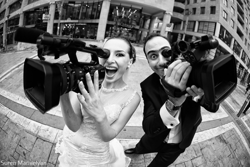 Filming their own wedding