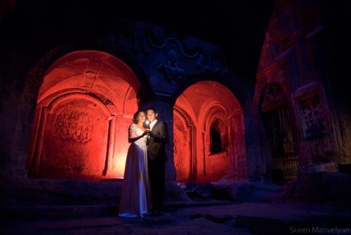 Under medieval archs